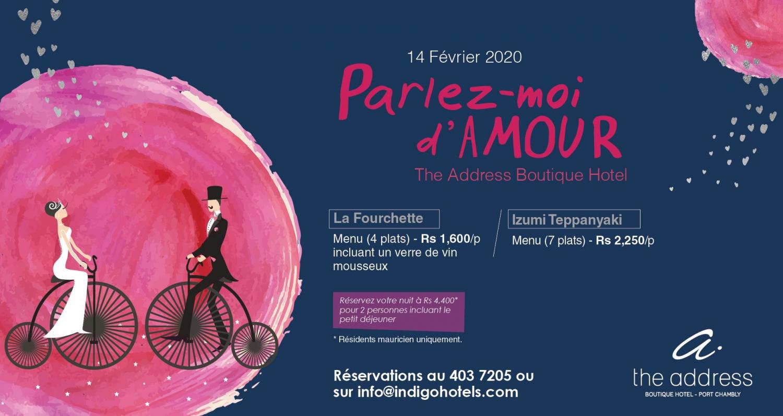 Parlez moi d'amour a The Address Boutique Hotel