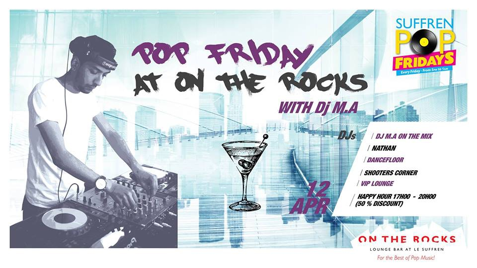Pop Friday with DJ M.A. at On The Rocks!
