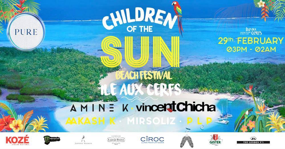 PURE at Ile aux Cerfs 'Children of the Sun'