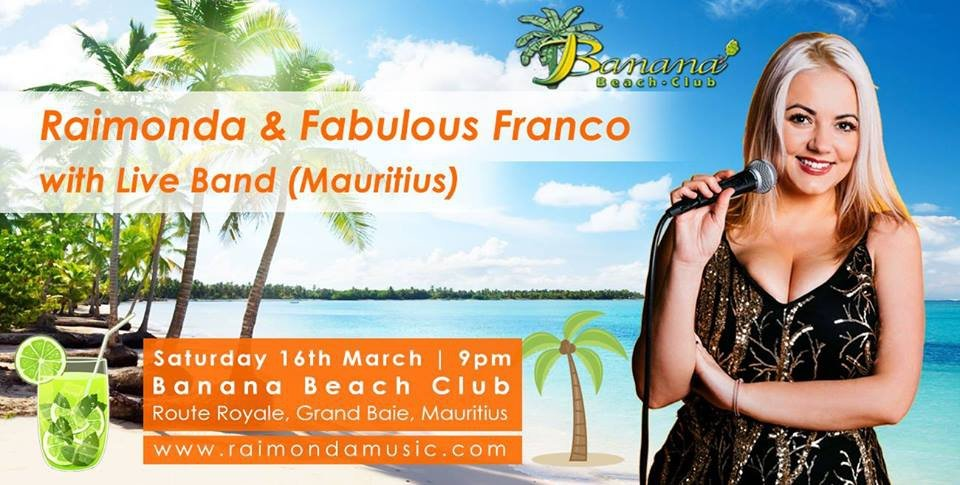 Raimonda live @Banana Beach Club Mauritius   My Guide Mauritius