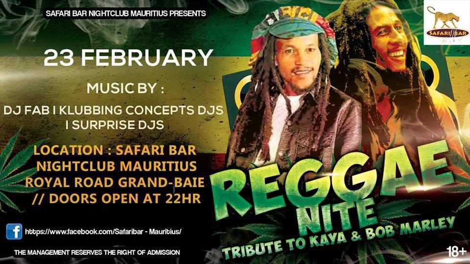 Reggae NITE - Tribute To Kaya & Bob Marley