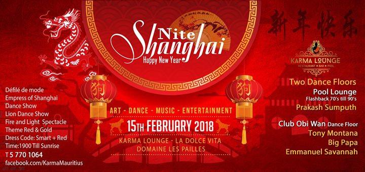 Shanghai Nite : 15 Feb 2018 @Karma Lounge La Dolce Vita Pailles