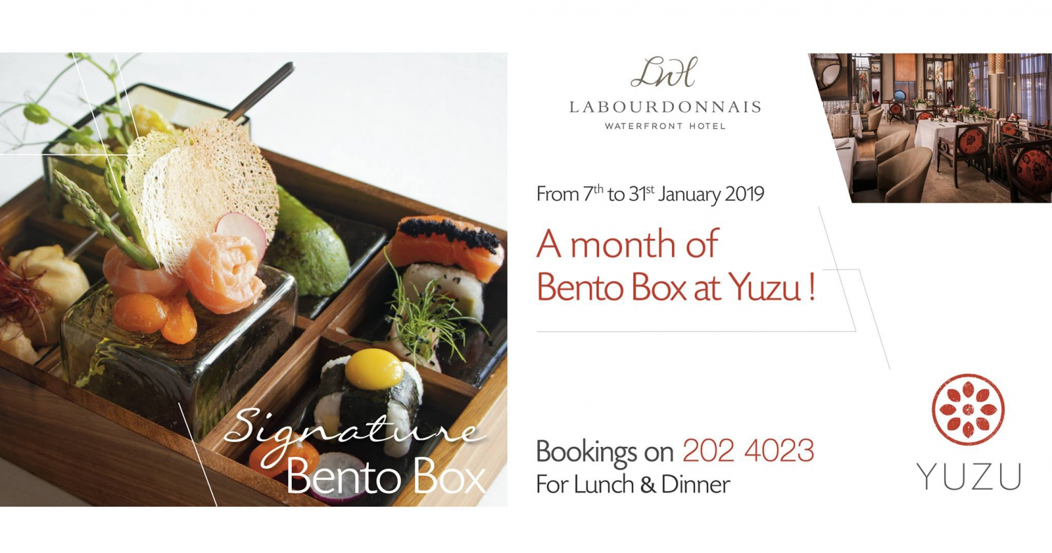 Signature Bento Box at Yuzu