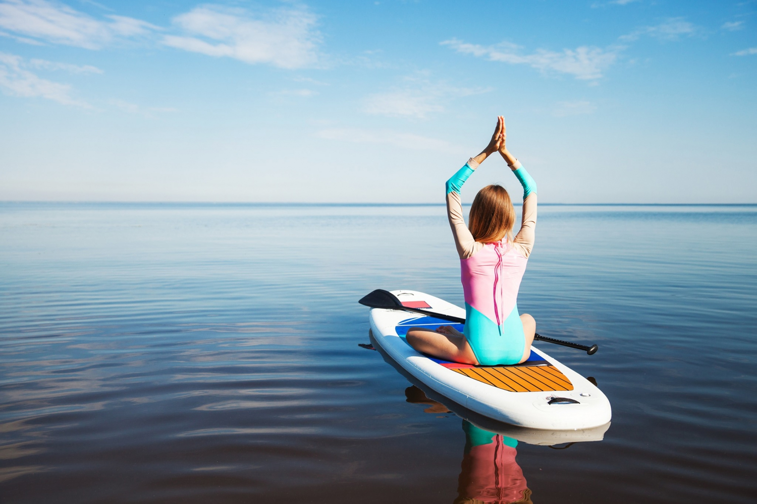 Stand Up Paddle Yoga at Lux Grand Gaube with Alexia Langlois