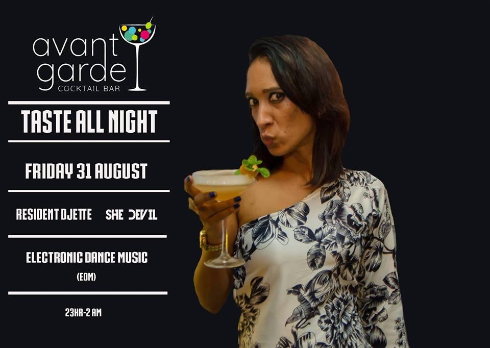 Taste all Night at Avant Garde Cocktail Bar