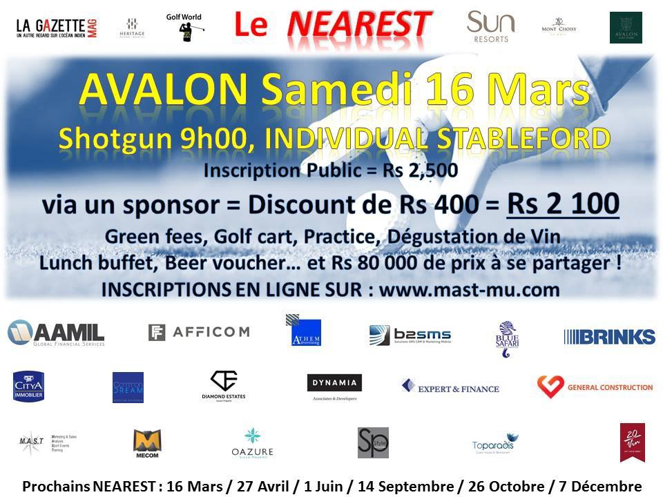 The Nearest of 16 March at Avalon Golf Estate
