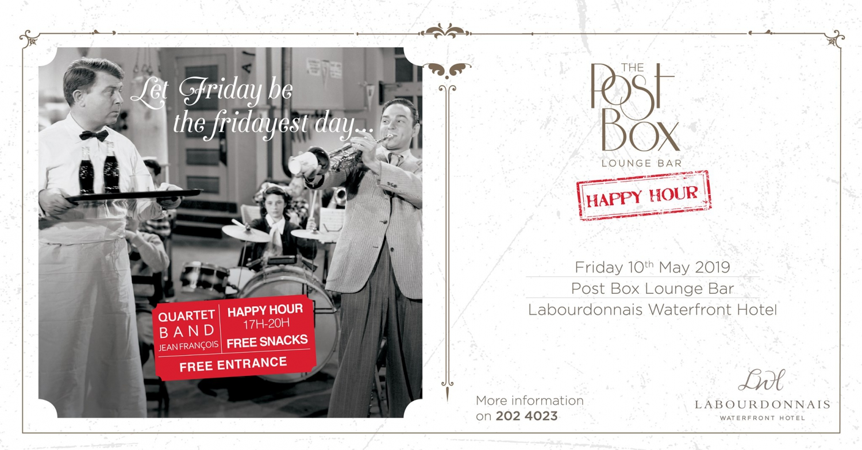 The Post Box Happy Hour at Labourdonnais Waterfront Hotel