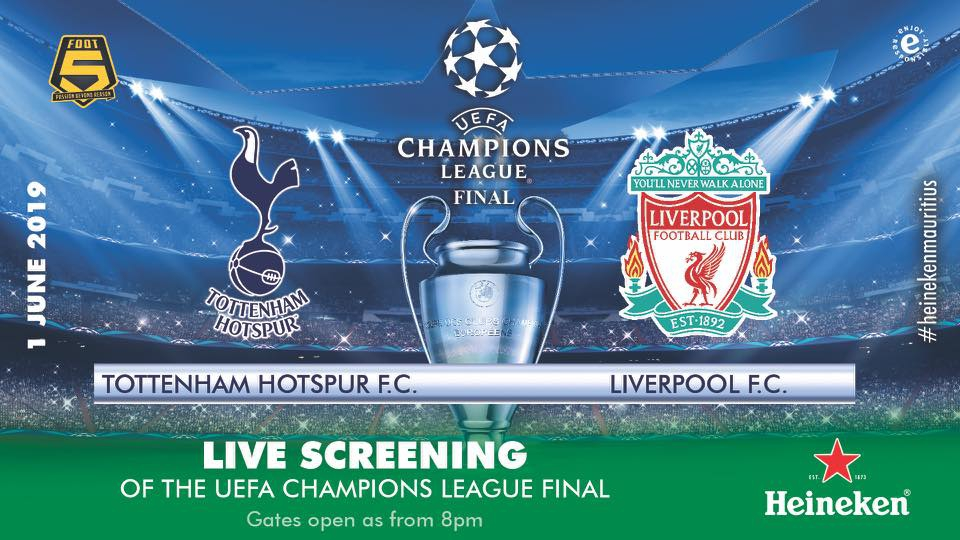 Best Places to watch the Champions League Final 2019 Tottenham vs Liverpool in Mauritius