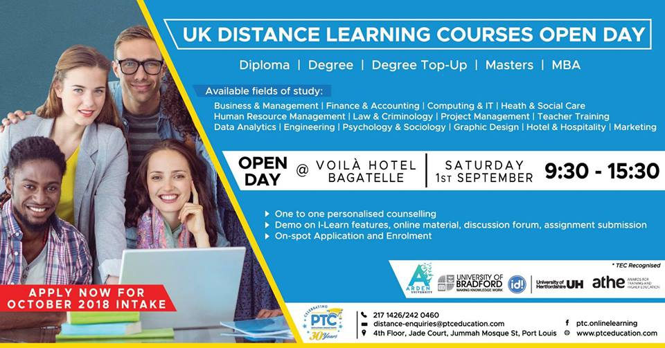 Uk Distance Learning Courses Open Day at Voila Bagatelle