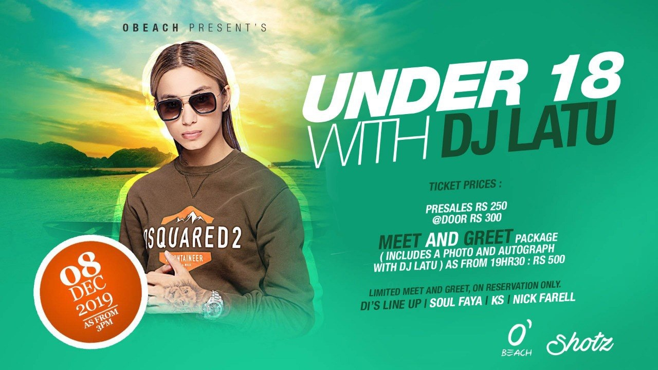 Under18 with Dj Latu at OBeach