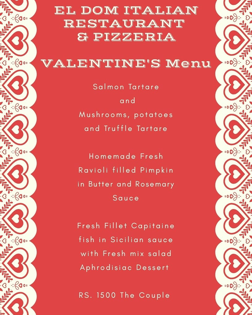 Valentine's Day at El Dom Italian Restaurant