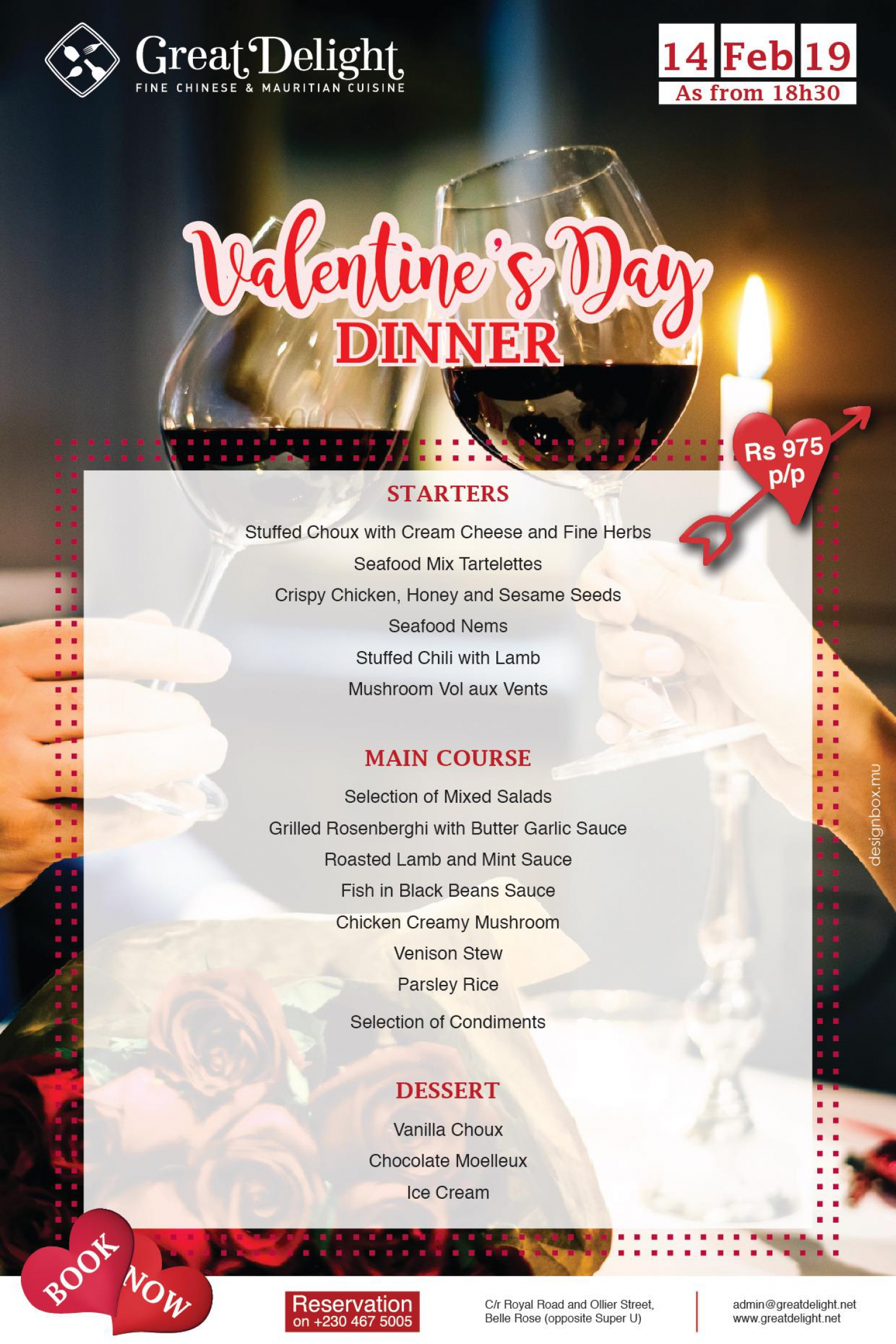 Valentine's day at Great Delight Restaurant