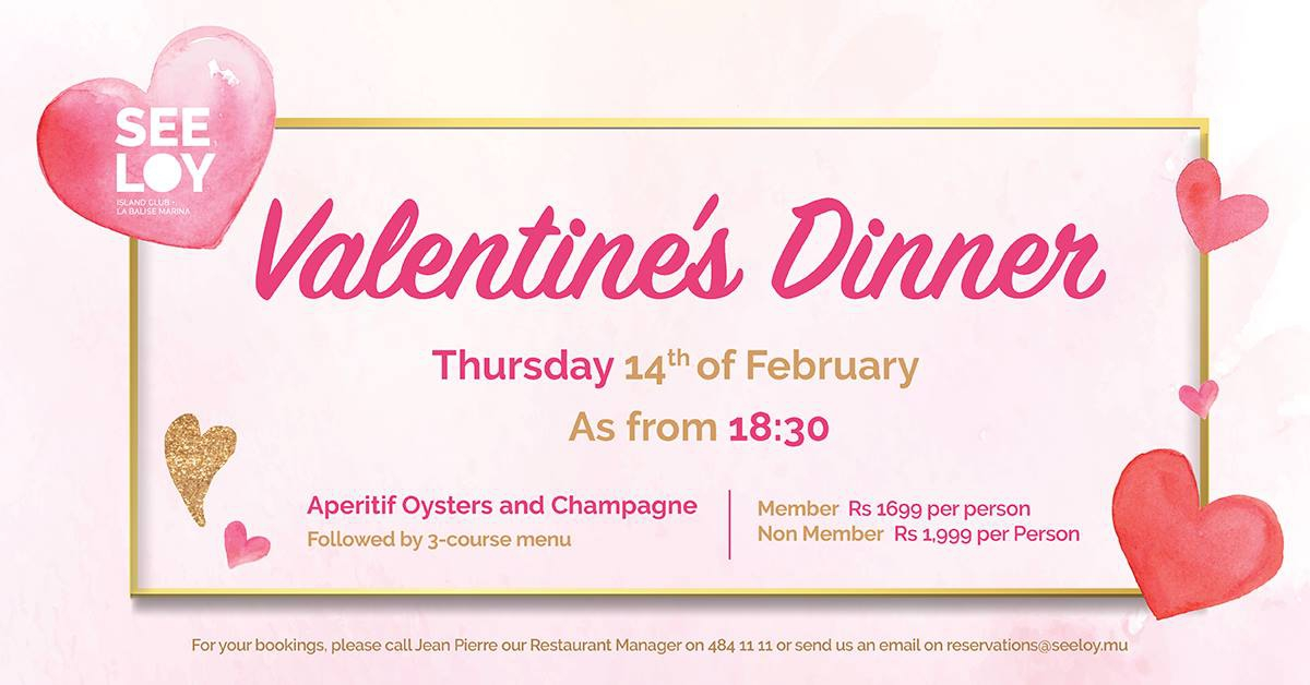 Valentines Dinner at Seeloy Island Club