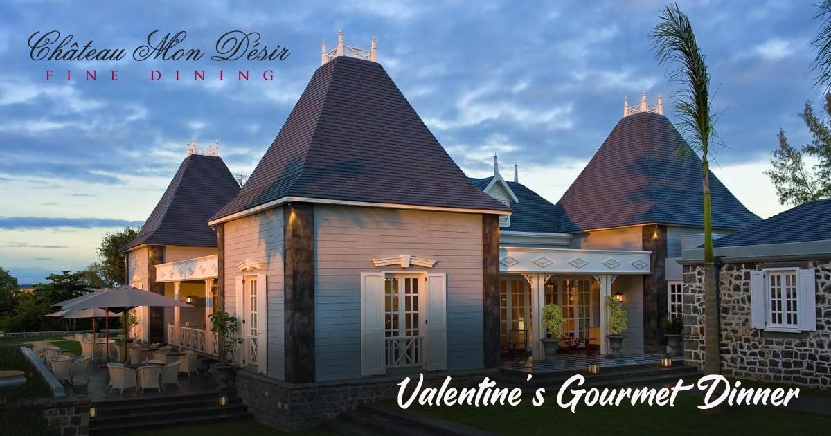Valentines Gourmet Dinner at Château Mon Désir 2020