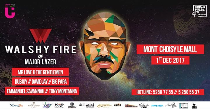 Walshy FIRE of MAJOR LAZER takesover Mauritius!