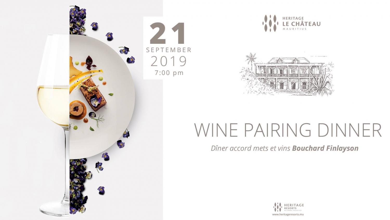 Wine Pairing Dinner - Bouchard Finlayson