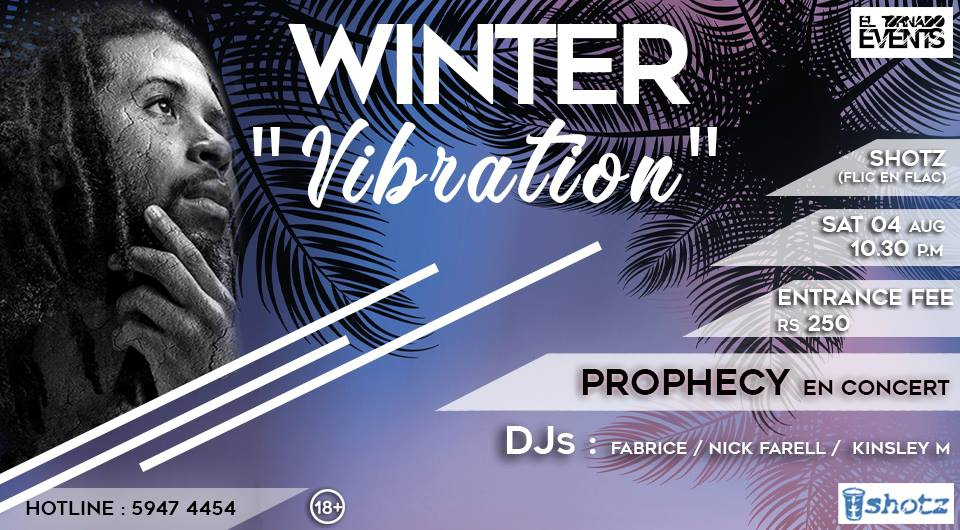 Winter Vibration with THE PROPHECY LIVE at SHOTZ CLUB