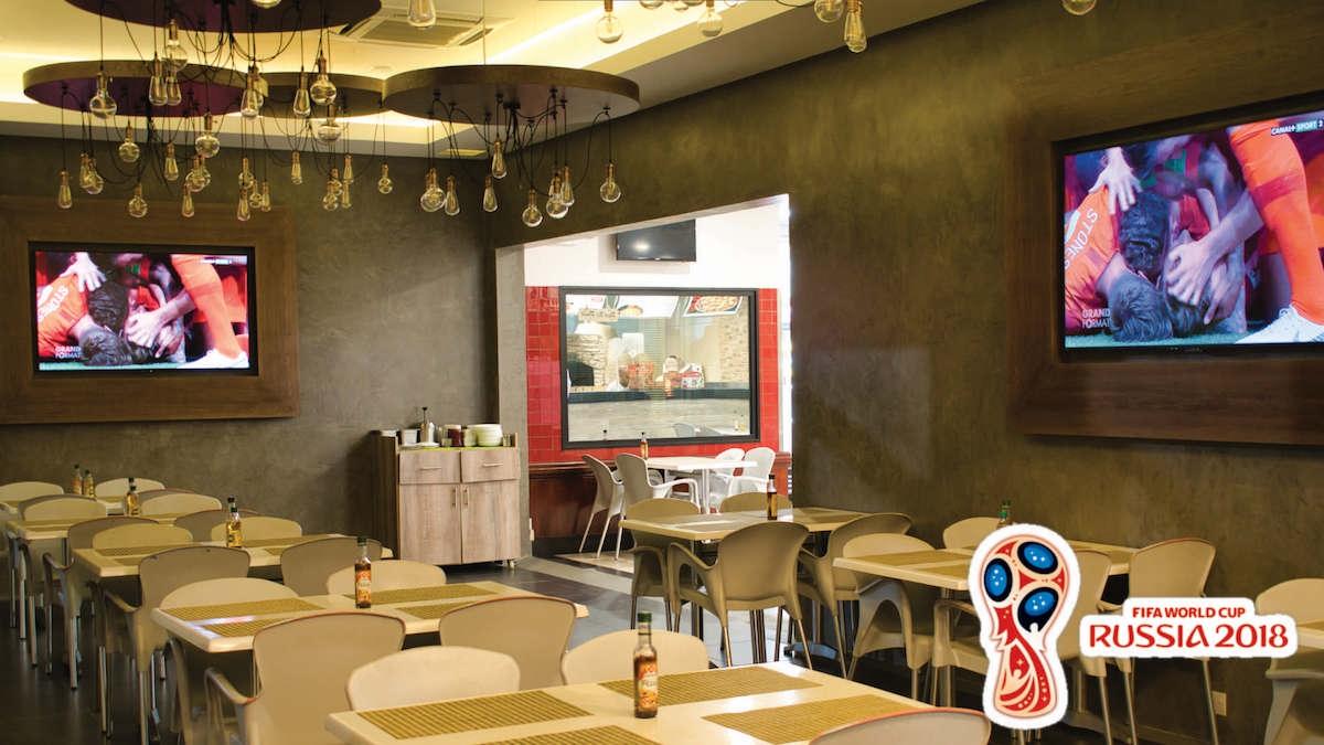 World Cup 2018 at Pizza Burger Perfect Argentina v Croatia Jun21