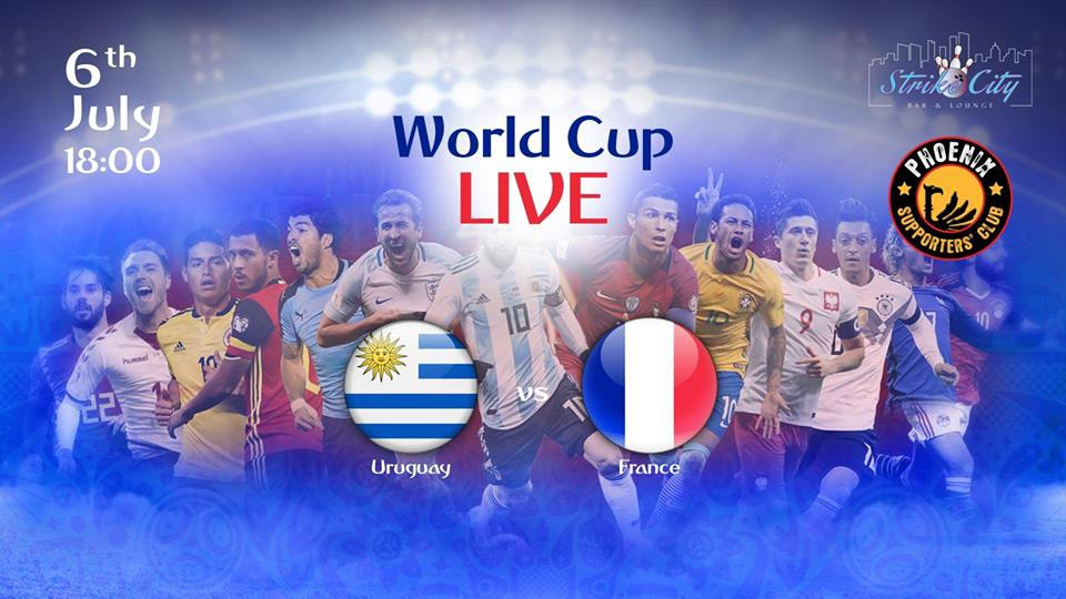 World Cup - Uruguay Vs France at Strike City Bagatelle