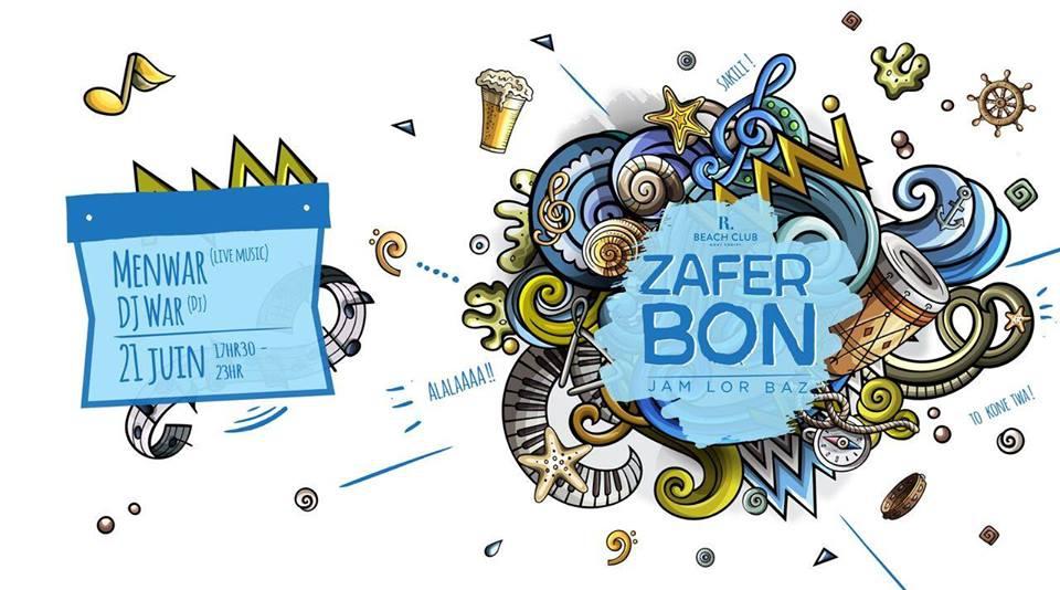 Zafer Bon fête de la musique - Menwar at R Beach Club