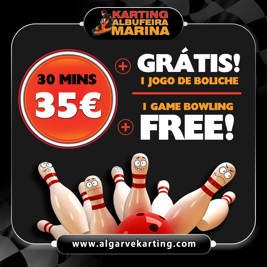 Free bowling with Karting Albufeira