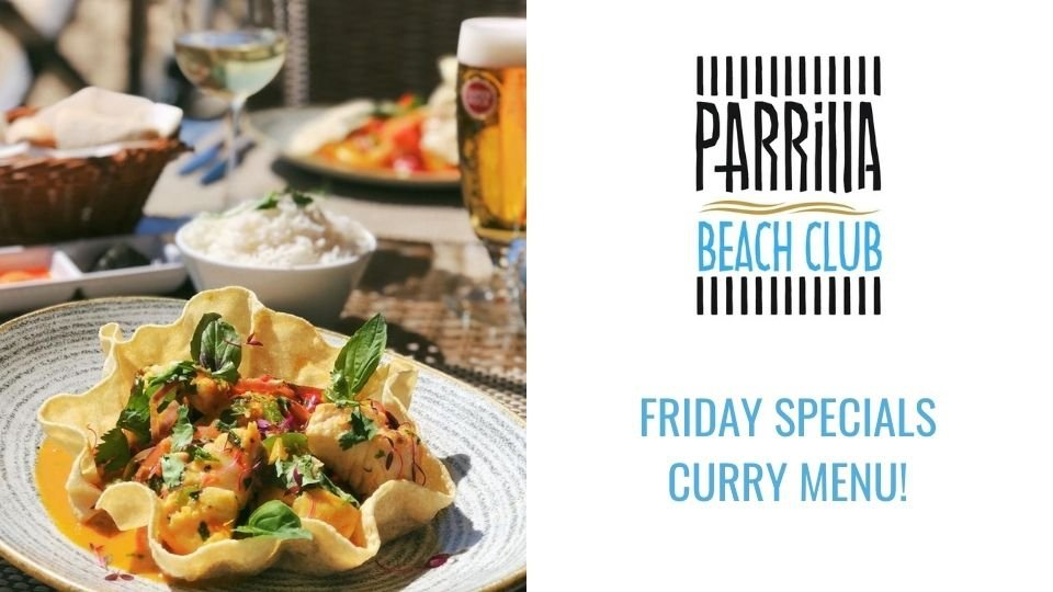 Friday Specials Curry Menu at Parrilla Beach Club