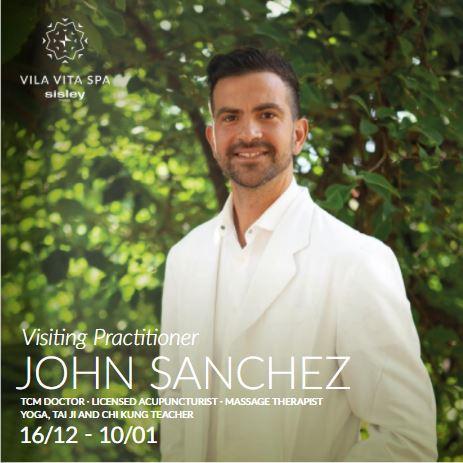 John Sanchez TCM Visiting Practitioner at VILA VITA Parc