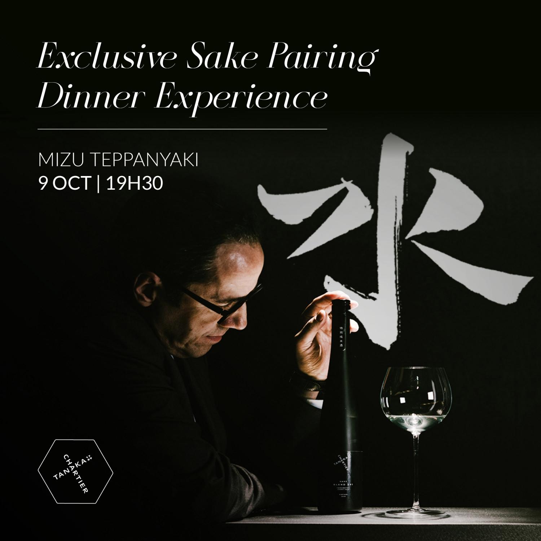 Sake Pairing Dinner Experience VILA VITA Parc Mizu Teppanyaki