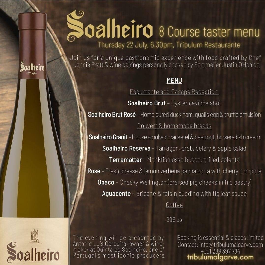 Soalheiro Wine Pairing Menu Tribulum