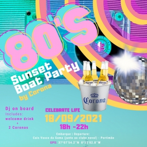 80's Sunset Boat Party by Corona
