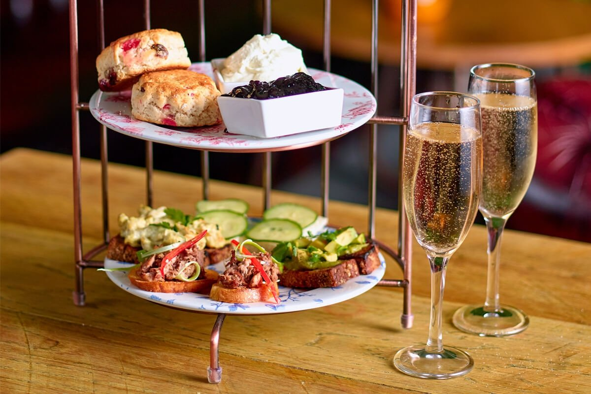 Tipsy Afternoon Tea with Cocktail for Two at Revolution Bar