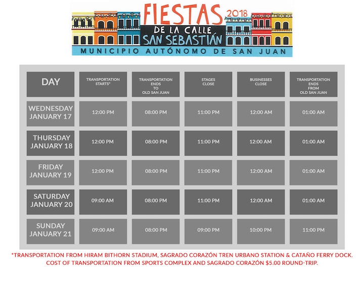 san sebastiáin street festival 2018 transportation information