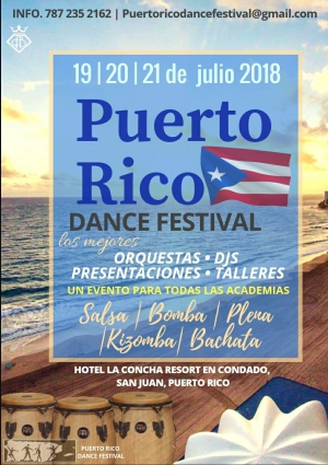 puerto rico dance festival flyer