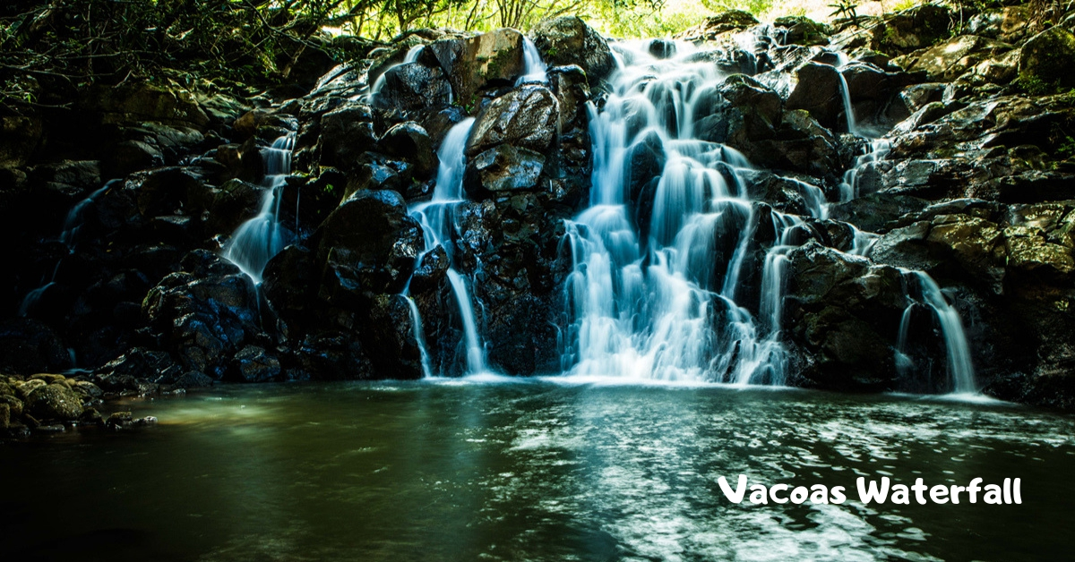 Vacoas Waterfall at La Vallee des Couleurs