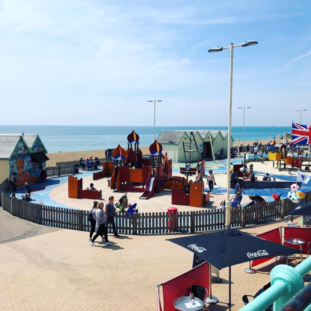 Playground on the Brighton Beach