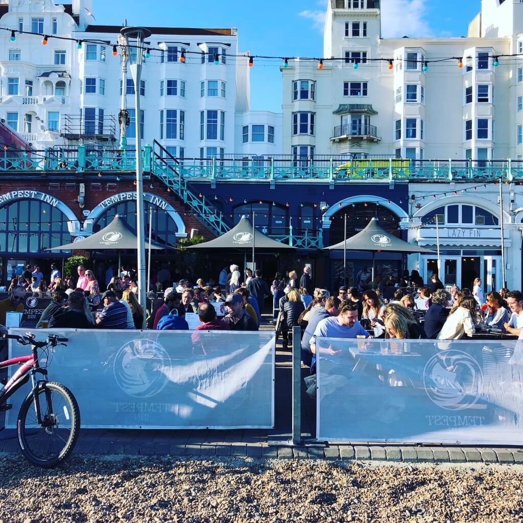 Brighton Beach in the evening