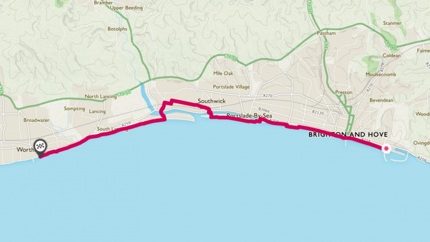 Coastal Worthing Cycling Route