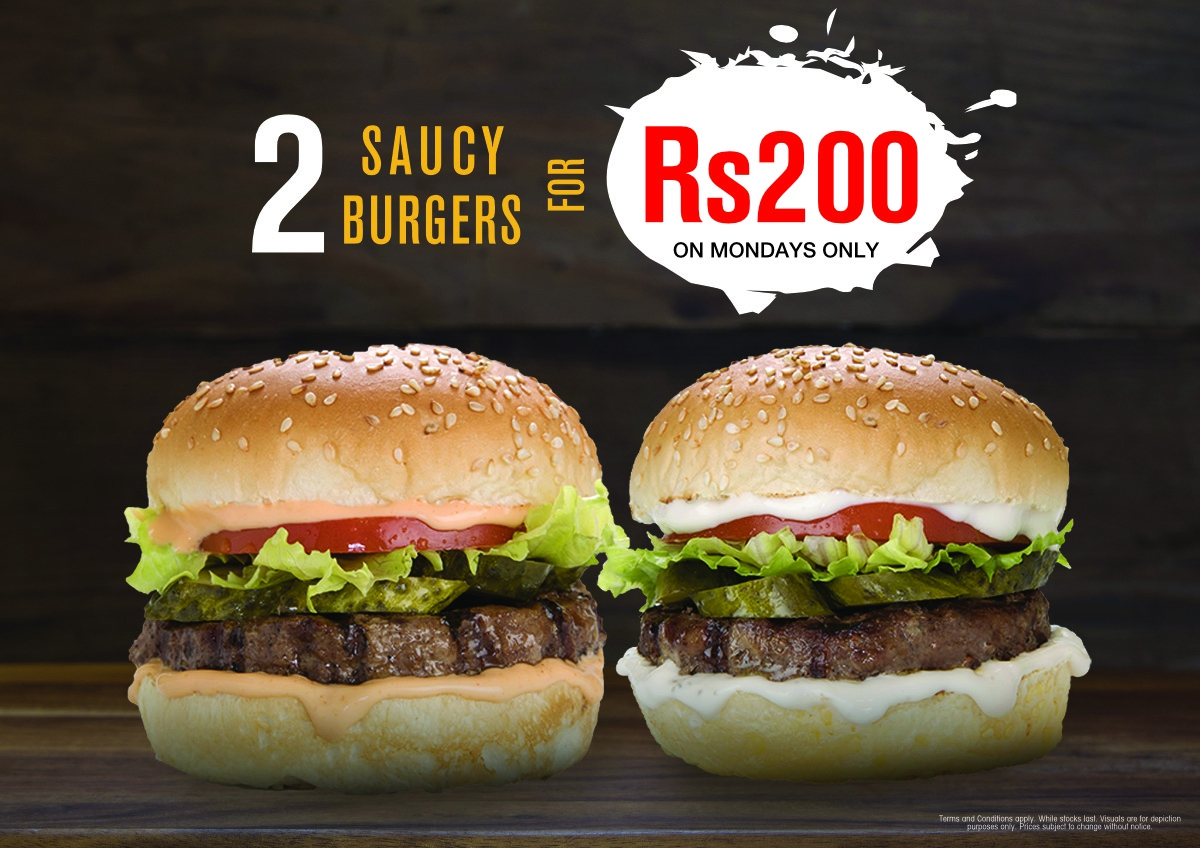 Monday Special deal at Pizza & Burger Perfect