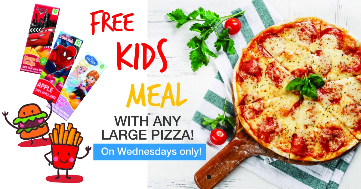 Wednesday Special Deal at Pizza & Burger Perfect