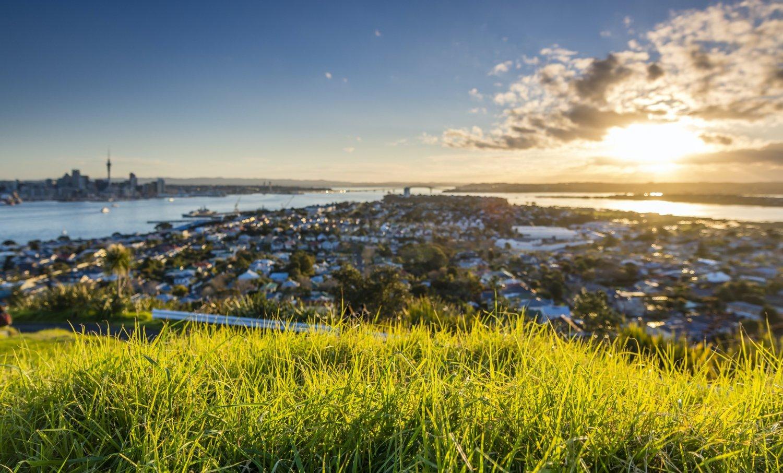 Romantic Kiwi Sunset at Mt. Victoria in Devonport, Auckland