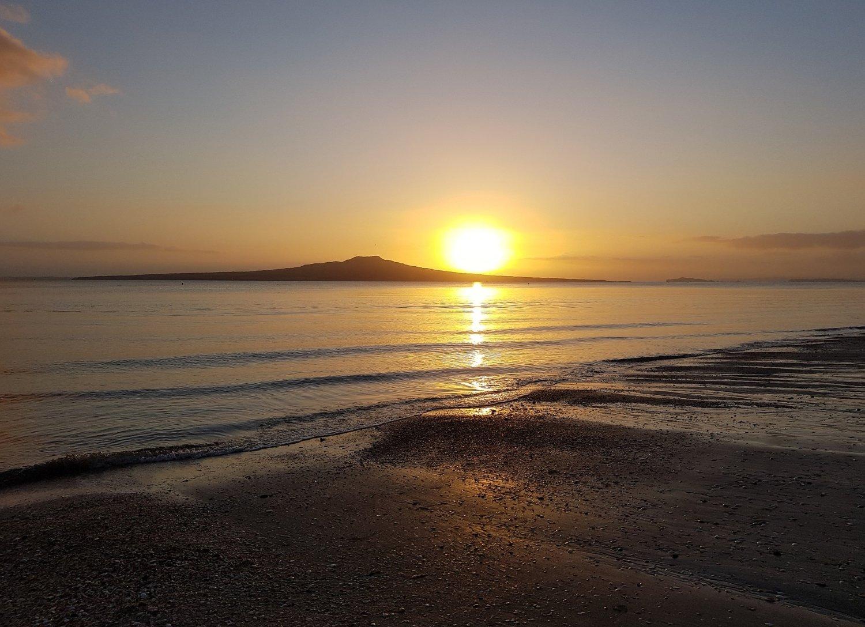 Sunrise at Takapuna Beach, Auckland