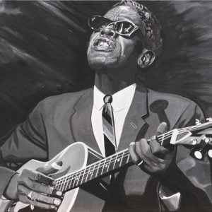 Lightnin'Hopkins by Alan Bertrand
