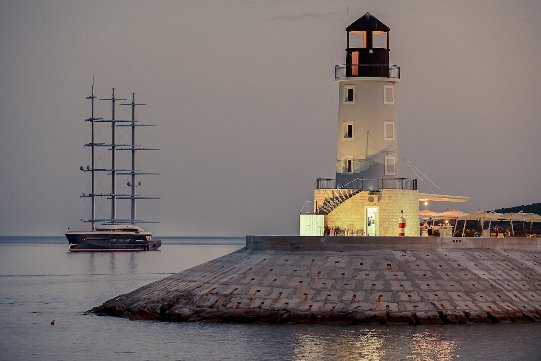 Black Pearl Sailing Around Lustica Bay