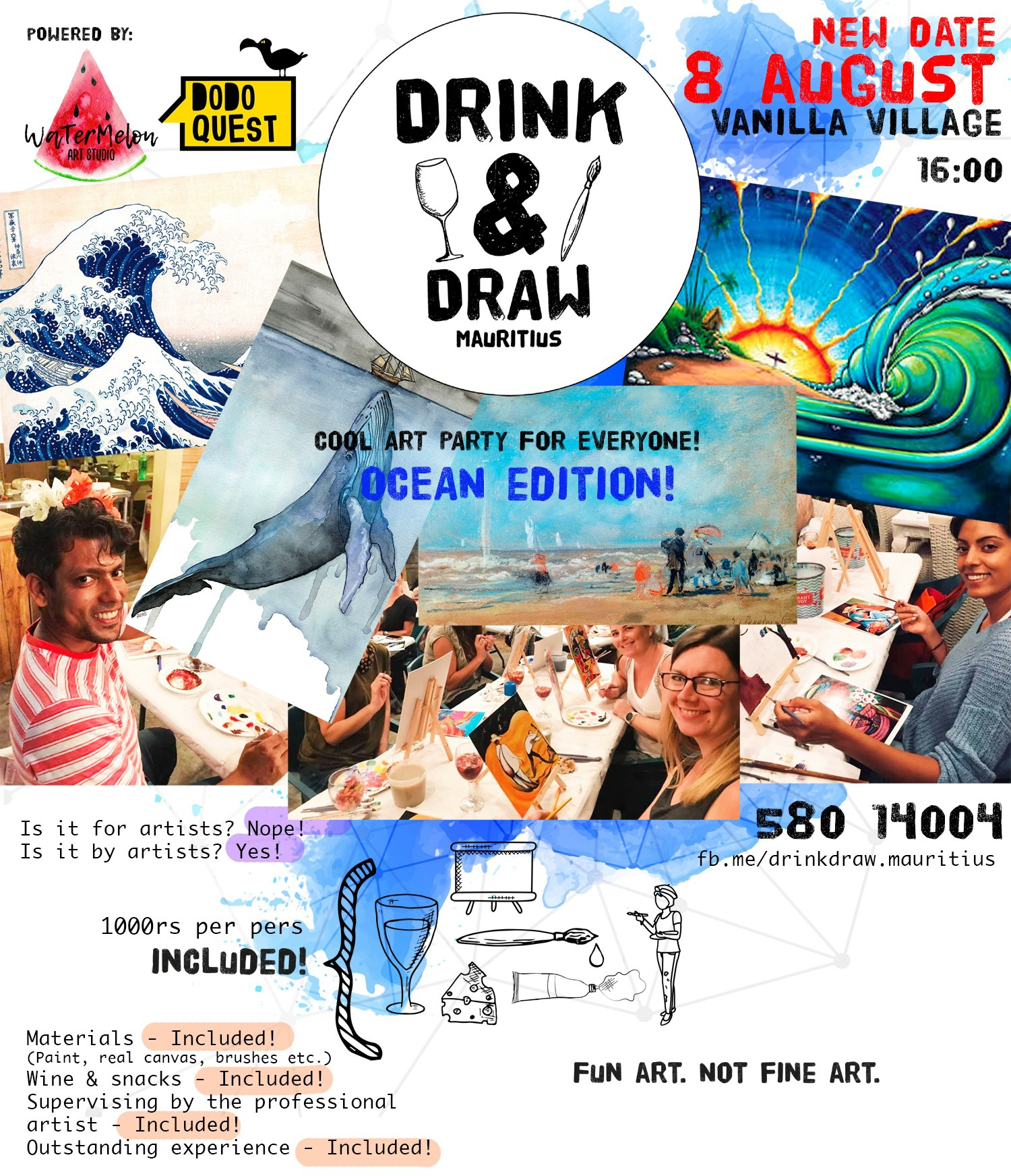 Drink&Draw party (Ocean edition) New DATE