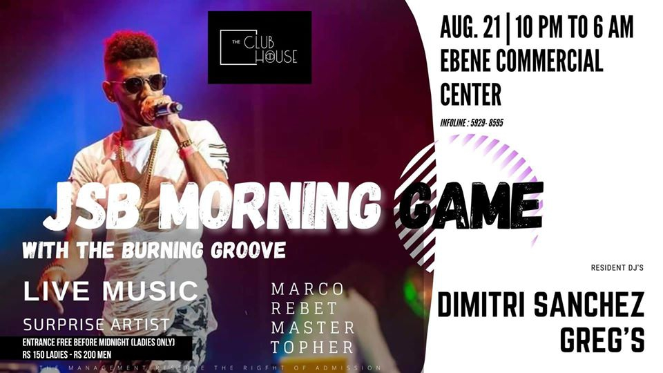 LIVE MUSIC 2020 JSB Morning Game at The Club Ebene