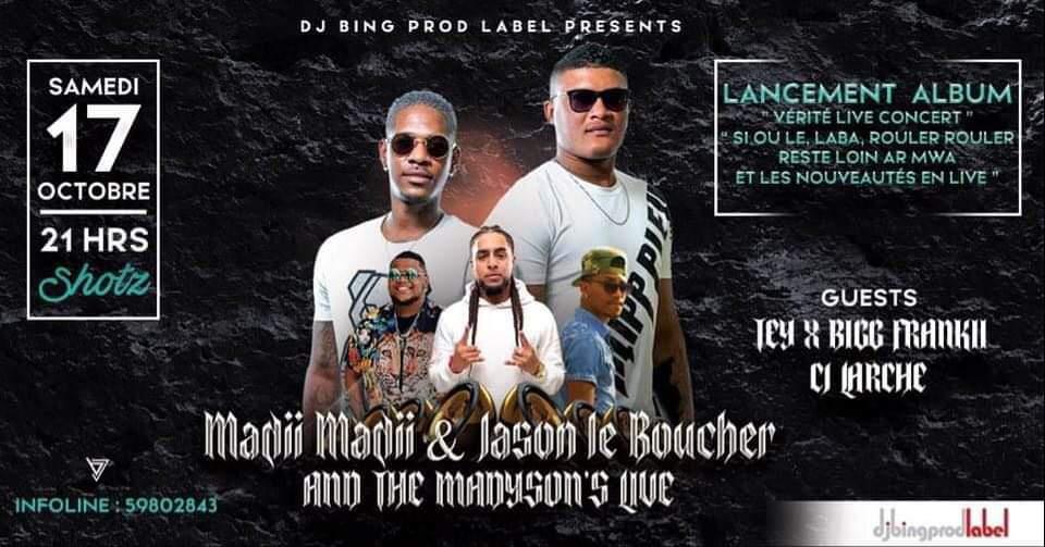 Madii Maddi, Jason Le Boucher & THE MADYSON'S LIVE Album Launch