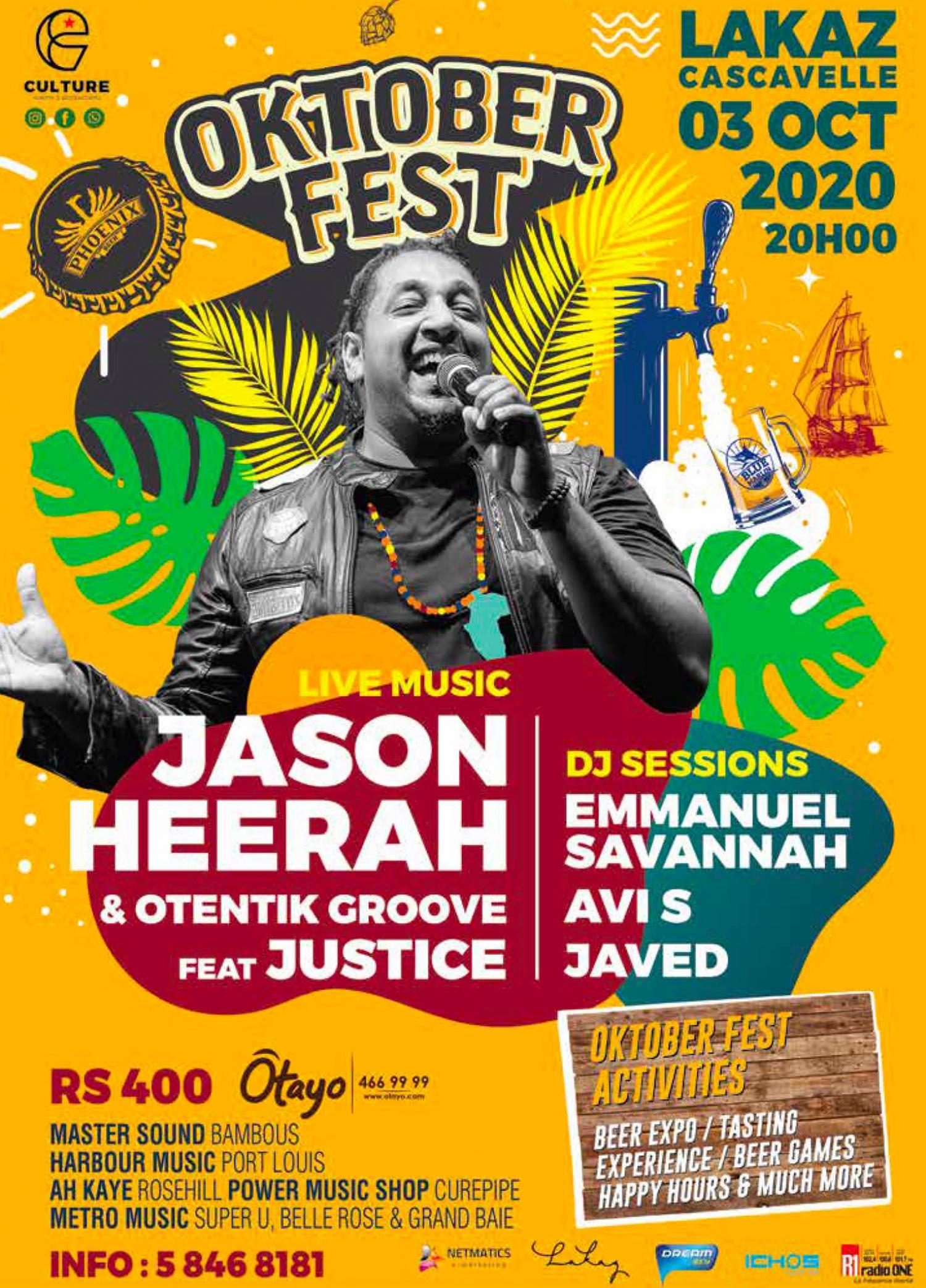 Oktober Fest - Jason Heerah & Otentik Groove ft Justice