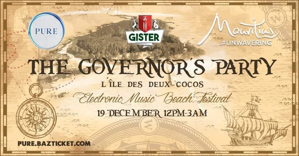 PURE at Ile des Deux Cocos 'The Governor's Party'