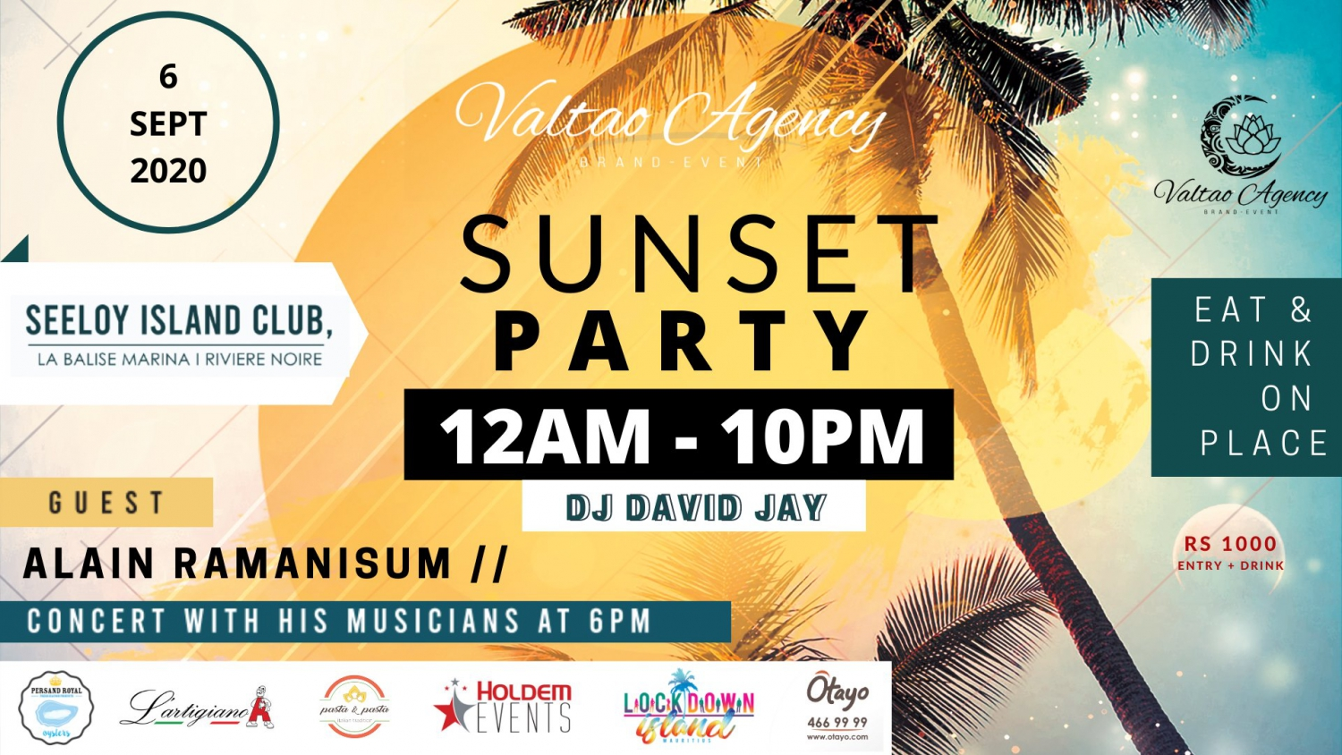 SUNSET PARTY at  Seeloy Island Club
