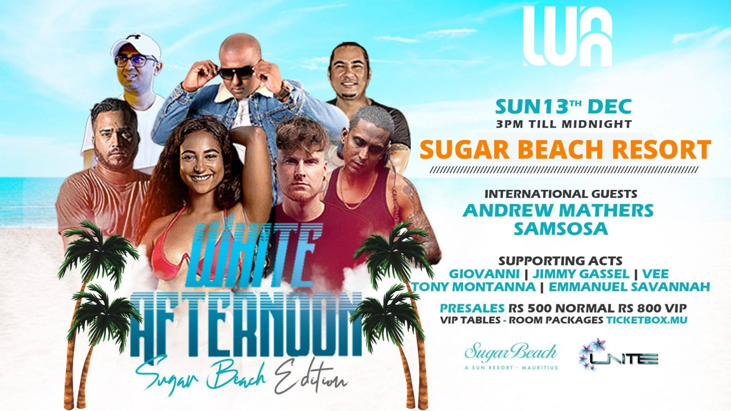 White Afternoon - Sugar Beach Edition ft Andrew Mathers & Sam Sosa